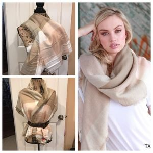 Accessories - Taupe Blanket Scarf in Women